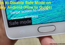 How to turn off safe mode on android
