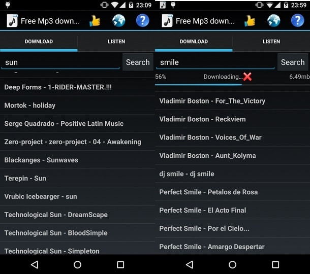 Free music mp3 apps for android