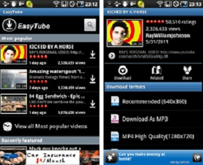 EasyTube youtube downloader