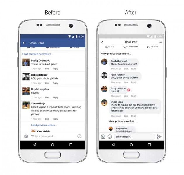 Facebook updating Android app with new style, better readability
