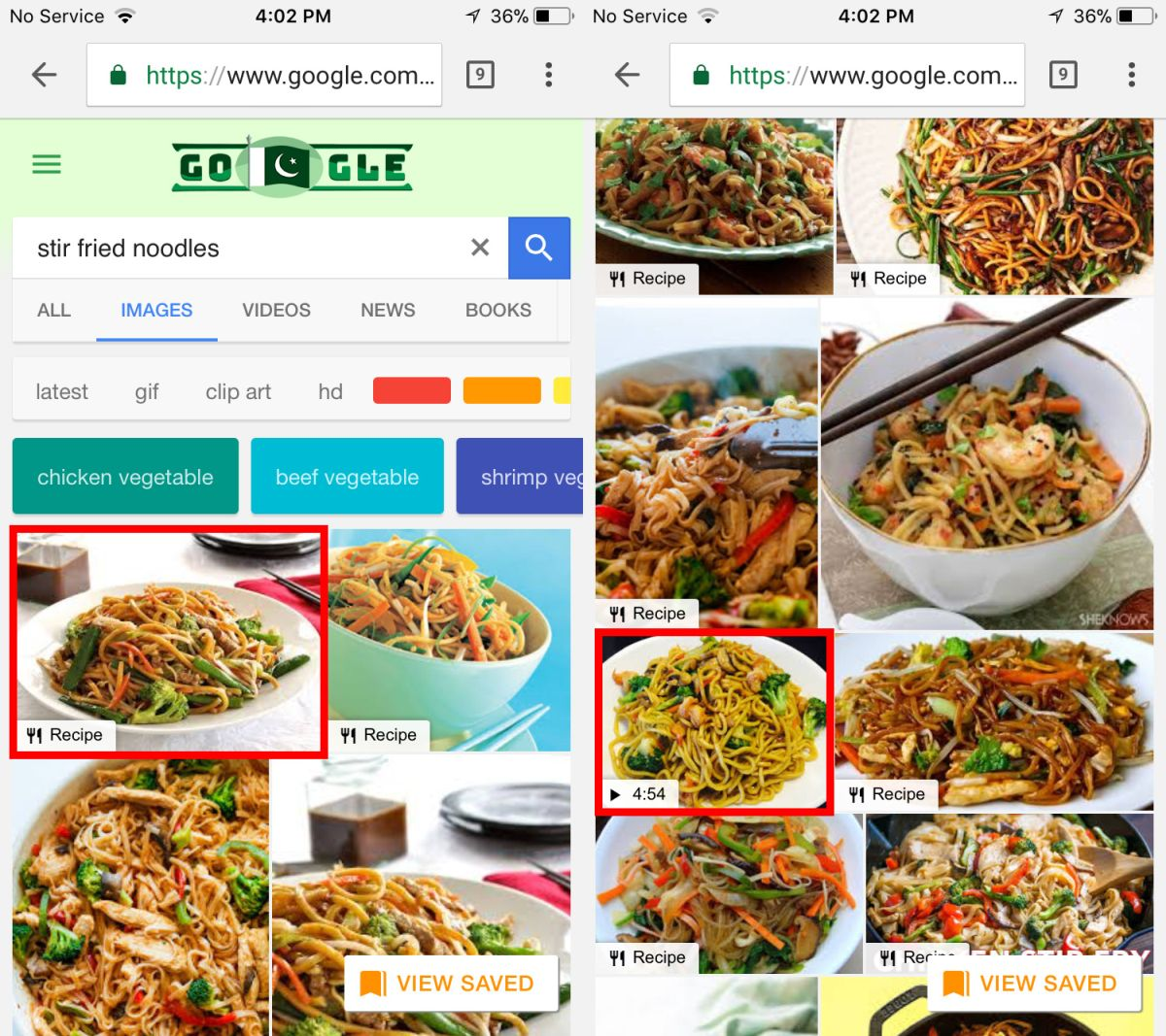 How To Find Recipes In Google Image Search