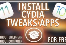 Download and Install Cydia Apps on iOS 11 without Jailbreak