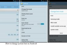 How to change system font on Android