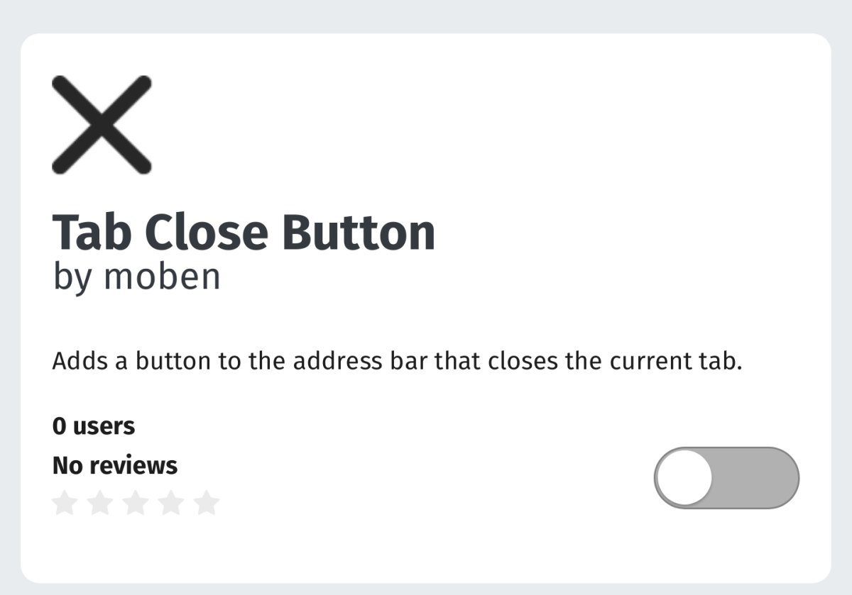 How To Add A Close Button To Tabs In Firefox Android