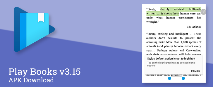Play Books v3.15 adds stylus support for highlighting and notes [APK Download]