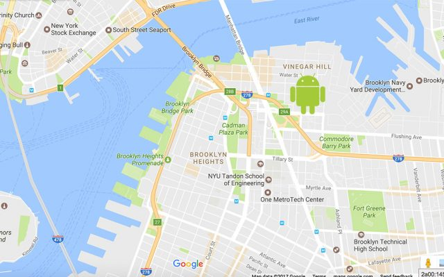 lost android phone on google map