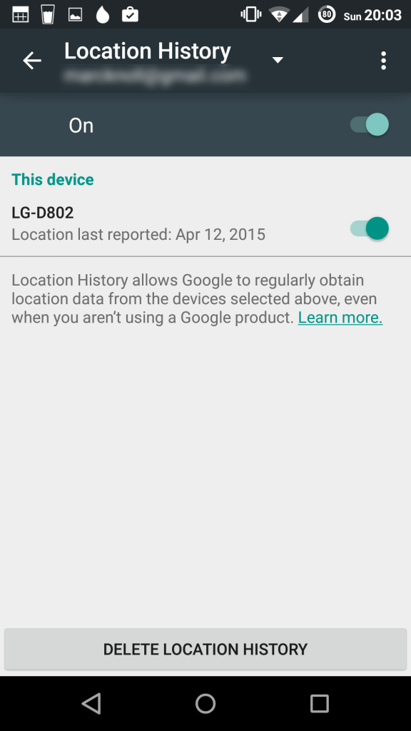 location history2 576x1024 - What to do if your android device or Tablet is lost or Stolen - lost manager
